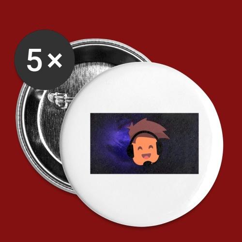 ProfilBild RymdBakgrund - Stora knappar 56 mm (5-pack)