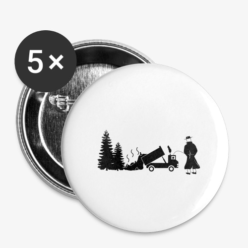 Pissing Man against environmental pollution - Buttons groß 56 mm (5er Pack)