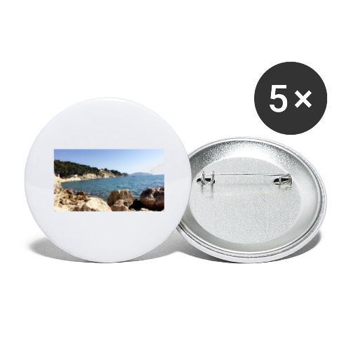 Corniche - Lot de 5 grands badges (56 mm)