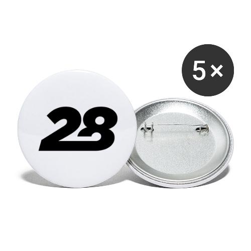 28 - Buttons large 2.2''/56 mm(5-pack)