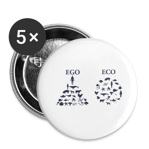 Ego VS Eco - Confezione da 5 spille grandi (56 mm)