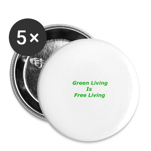 Green Living - Buttons/Badges stor, 56 mm (5-pack)