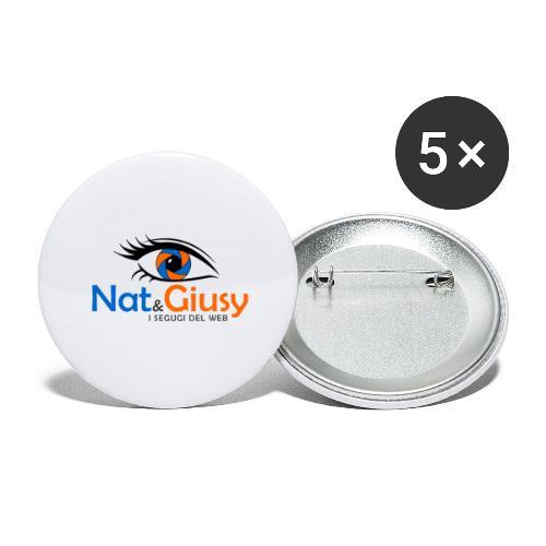 Nat e Giusy - Confezione da 5 spille grandi (56 mm)