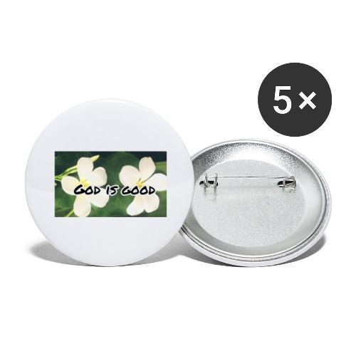 God is good - Buttons large 2.2''/56 mm(5-pack)