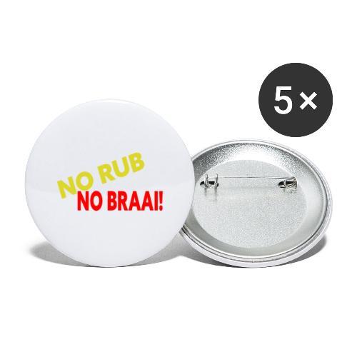 NO RUB NO BRAAI - Buttons groot 56 mm (5-pack)