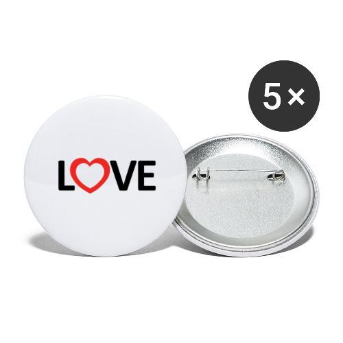 Love - Paquete de 5 chapas grandes (56 mm)