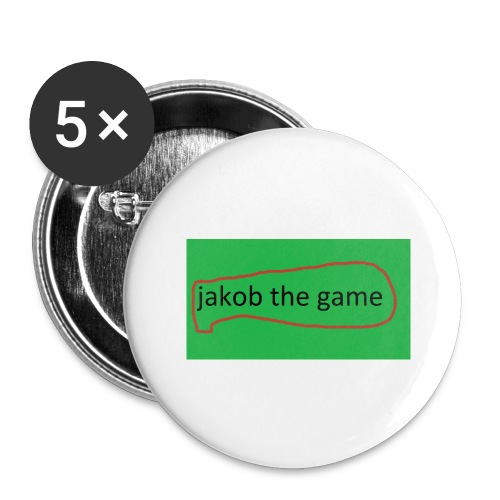 jakob the game - Buttons/Badges stor, 56 mm (5-pack)