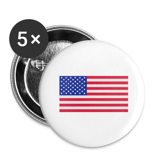 USA / United States - Buttons groot 56 mm (5-pack)