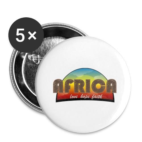 Africa_love_hope_and_faith - Confezione da 5 spille grandi (56 mm)