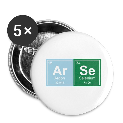 Geeky Arse Periodic Elements - Buttons large 2.2''/56 mm(5-pack)