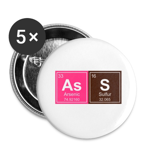 Geeky Ass Periodic Elements - Buttons large 2.2''/56 mm(5-pack)