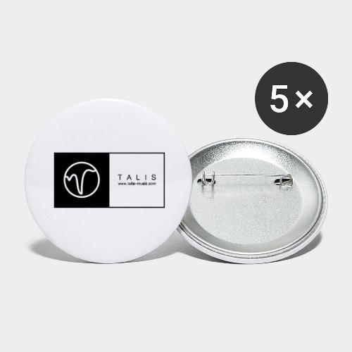 TALIS (2Quadrate) - Buttons groß 56 mm (5er Pack)