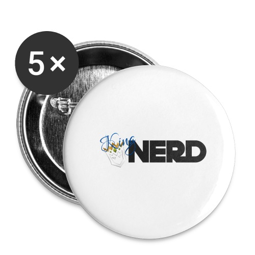 King-Nerd - Buttons large 2.2''/56 mm(5-pack)