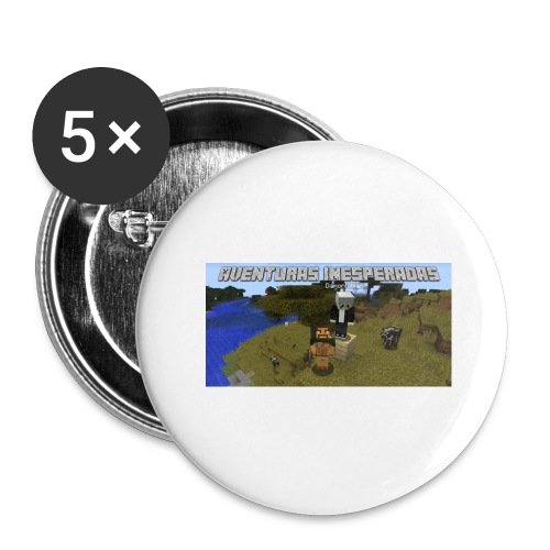 minecraft - Buttons large 2.2''/56 mm (5-pack)