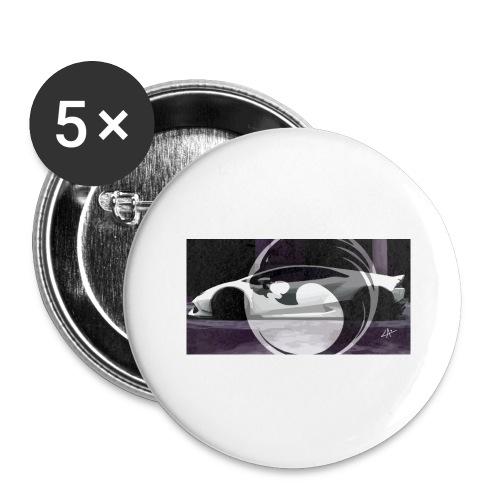 lion black lyon design - Buttons large 2.2''/56 mm(5-pack)