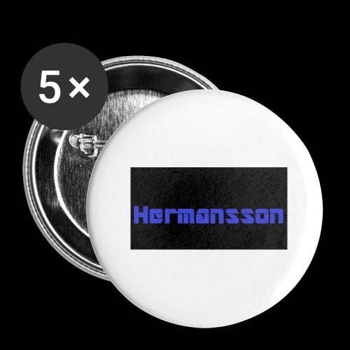 Hermansson Blå/Svart - Stora knappar 56 mm (5-pack)