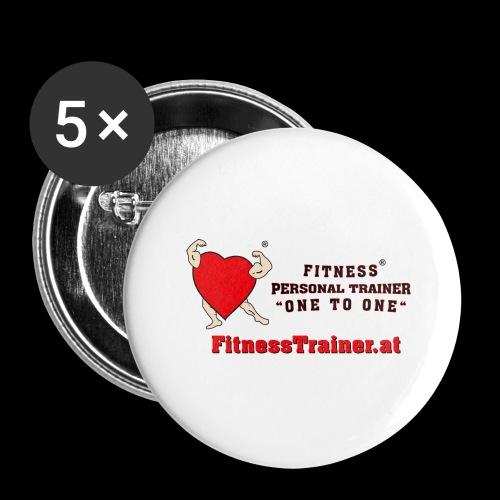FitnessTrainer.at - Buttons groß 56 mm (5er Pack)