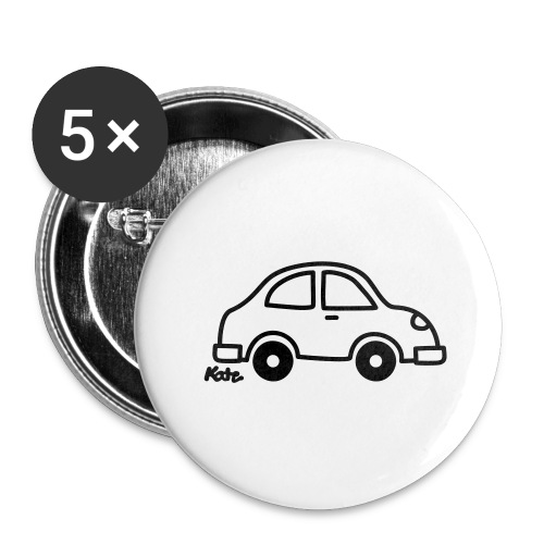 Auto - Buttons groß 56 mm (5er Pack)
