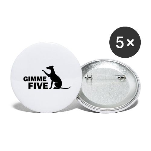 Whippet - Buttons groß 56 mm (5er Pack)
