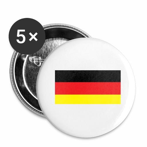 Deutschland Weltmeisterschaft Fußball - Buttons groß 56 mm (5er Pack)