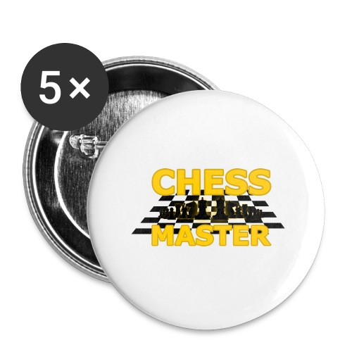 Chess Master - Black Version - By SBDesigns - Buttons large 2.2''/56 mm(5-pack)