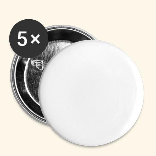 staff ac bianco - Confezione da 5 spille grandi (56 mm)