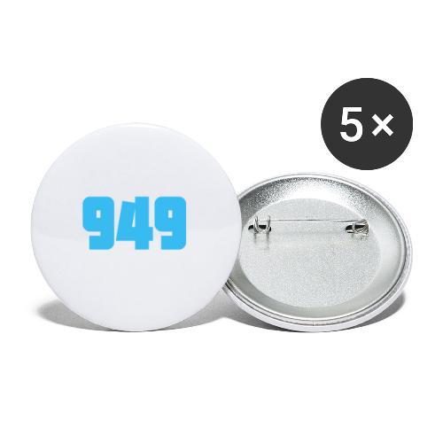 949blue - Buttons groß 56 mm (5er Pack)
