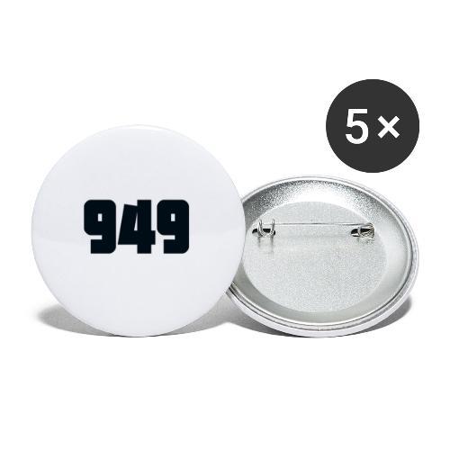 949black - Buttons groß 56 mm (5er Pack)