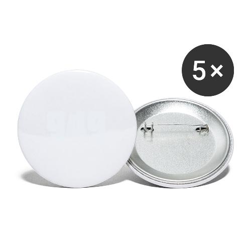 949withe - Buttons groß 56 mm (5er Pack)