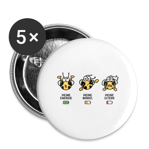 Babyindikator - Buttons groß 56 mm (5er Pack)