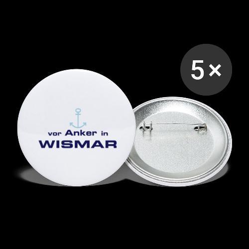 Vor Anker in Wismar - Buttons groß 56 mm (5er Pack)