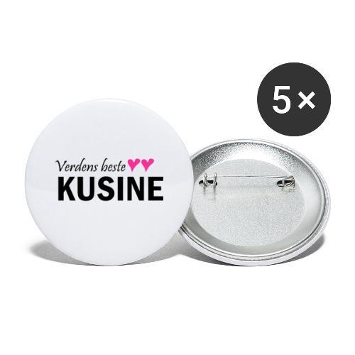 verdens beste kusine - Stor pin 56 mm (5-er pakke)