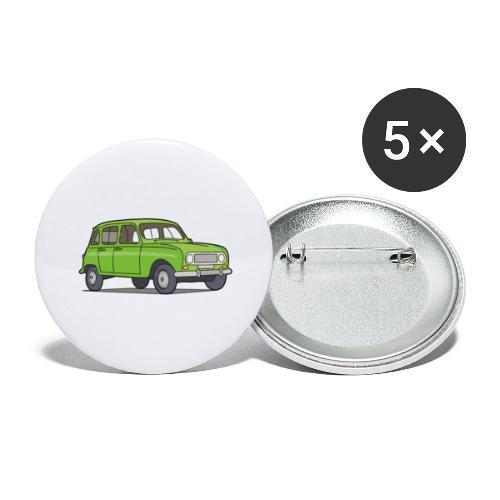 Grüner R4 (Auto) - Buttons groß 56 mm (5er Pack)