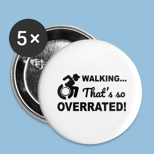 Walkingoverrated2 - Buttons groot 56 mm (5-pack)