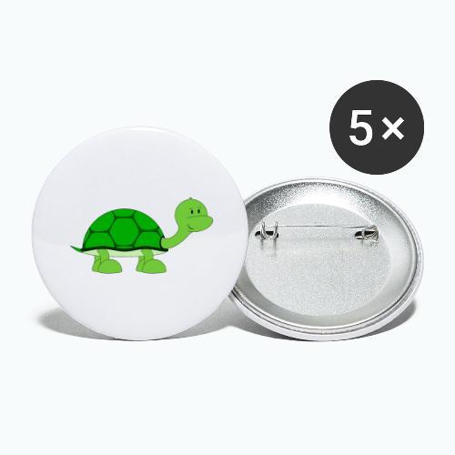 Totte Turtle - Appelsin - Stora knappar 56 mm (5-pack)