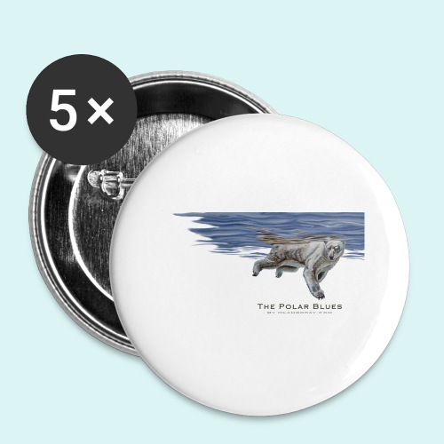 Polar-Blues-SpSh - Buttons large 2.2''/56 mm(5-pack)