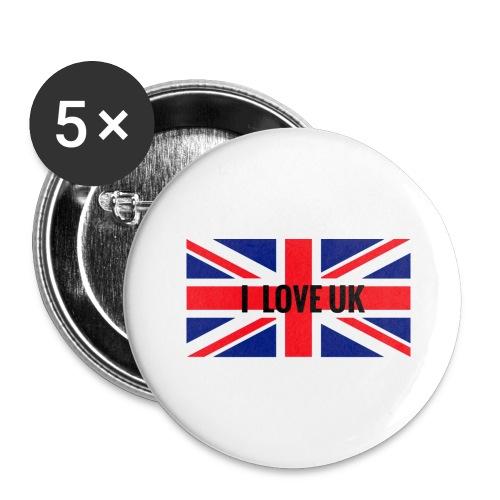 UK T-Shirt - Buttons groß 56 mm (5er Pack)