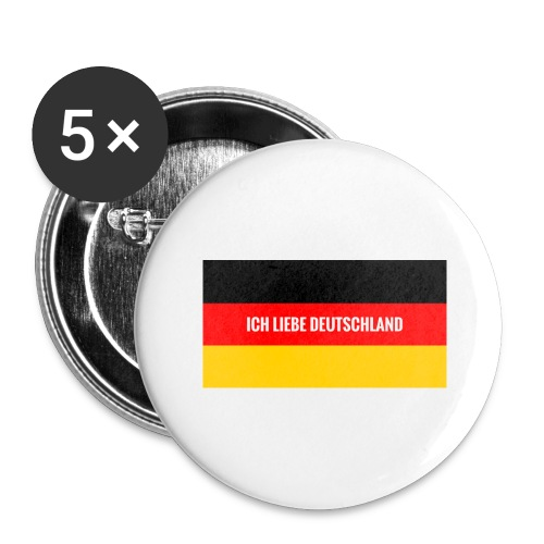 Deutschland - Buttons groß 56 mm (5er Pack)