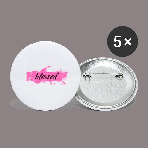 blessed spot pink - Buttons groß 56 mm (5er Pack)