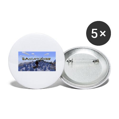 Minecarft merch - Buttons groß 56 mm (5er Pack)