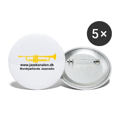 Den gyldne Jazztrompet - Buttons/Badges stor, 56 mm (5-pack)