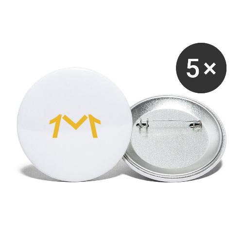 1M, LE LOGO DE L'UNIVERS - Lot de 5 grands badges (56 mm)