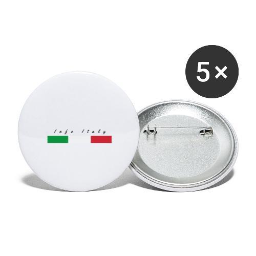Info Italy Design - Confezione da 5 spille grandi (56 mm)