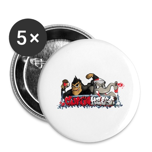 Cupfighters Rotterdam - Buttons groot 56 mm (5-pack)