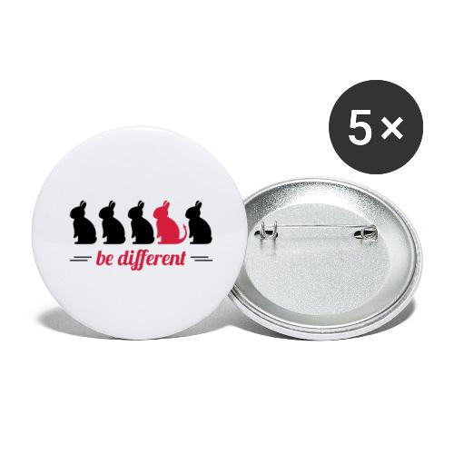 be different Hasen Kanichen Ostern bunny Häschen - Buttons groß 56 mm (5er Pack)