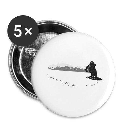 Downhill Longboard Skater in Action - Buttons groß 56 mm (5er Pack)