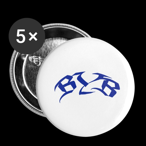10x5 ByB Kreis8cm - Buttons groß 56 mm (5er Pack)