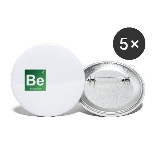 Be - Beryllium- Bernau - Buttons groß 56 mm (5er Pack)