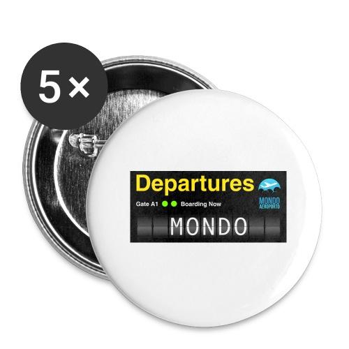 Departures MONDO jpg - Confezione da 5 spille grandi (56 mm)
