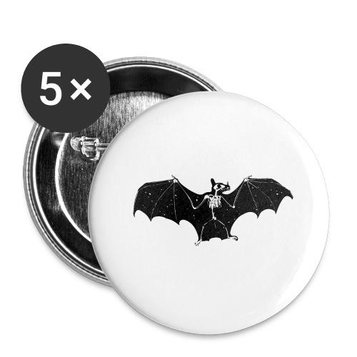 Bat skeleton #1 - Buttons large 2.2''/56 mm(5-pack)